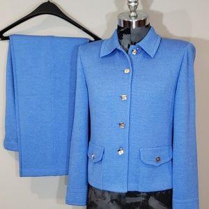 St John Santana knit suit blazer jacket and pants